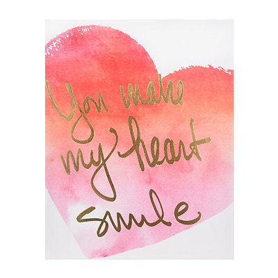 You Make my Heart Smile Canvas Art Print