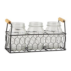 Country Chic Flatware Caddy, Set of 4