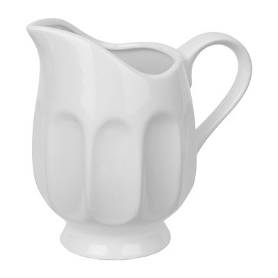 White Thumbprint Pitcher