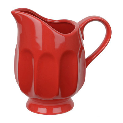 Red Thumbprint Pitcher