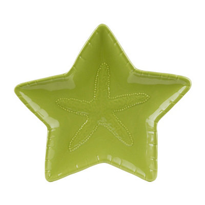 Lime Green Starfish Plate