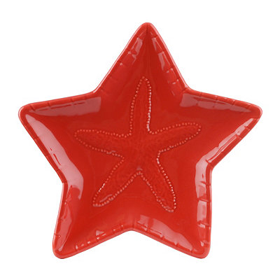 Red Starfish Plate