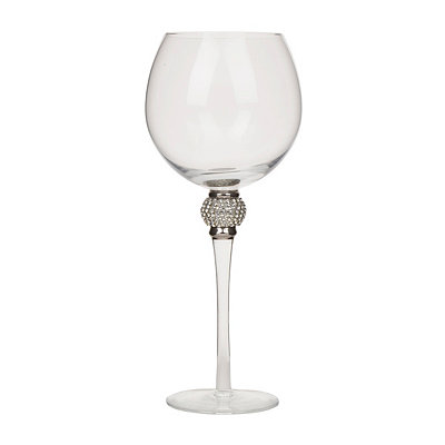 Silver Diamond Wine Glass