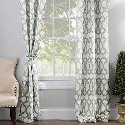 Aquifier Blue Teemu Curtain Panel Set, 96 in.