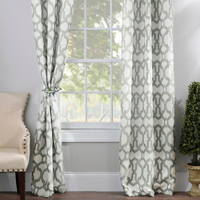 Aquifier Blue Teemu Curtain Panel Set, 96 in.
