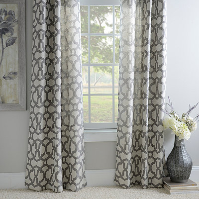 Black Pearl Teemu Curtain Panel Set, 96 in.