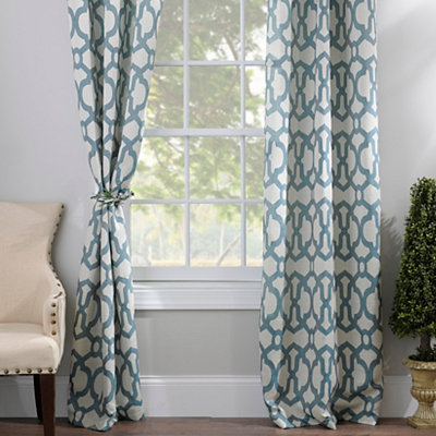 Dark Teal Teemu Curtain Panel Set, 96 in.