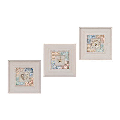 Seaside Treasures Framed Art Prints, Set of 3