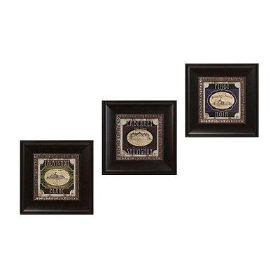 Vintage Wine Label Framed Art Prints, Set of 3