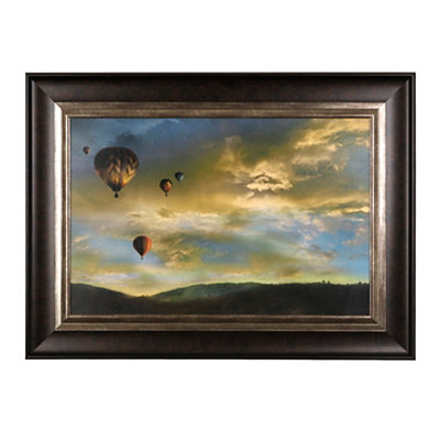 Hot Air Balloons in the Sky Framed Art Print