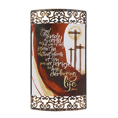 For God so Loved the World Metal Plaque