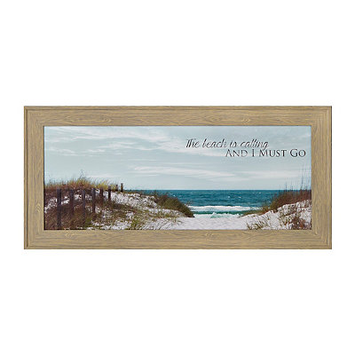 The Beach is Calling Framed Art Print