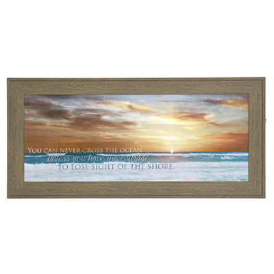 Cross the Ocean Framed Art Print