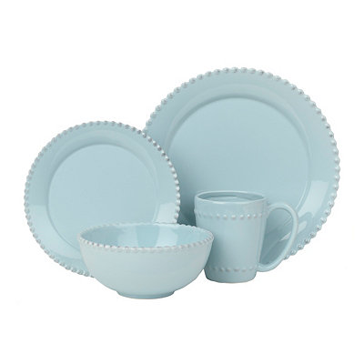 Bianca Azul Bead 16-pc. Dinnerware Set