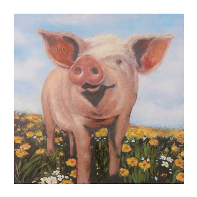 Pig's Day Out Canvas Art Print