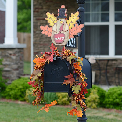 Harvest Turkey Mailbox Swag