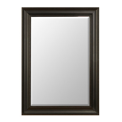 Matte Black Framed Mirror, 31x43