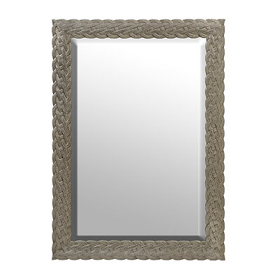 Silver Knotted Framed Mirror, 30.5x42.5