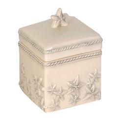 Ivory Starfish Cotton Ball Box