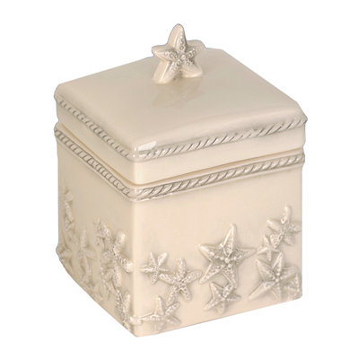 Ivory Starfish Cotton Ball Box