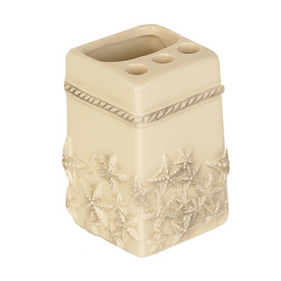 Ivory Starfish Toothbrush Holder