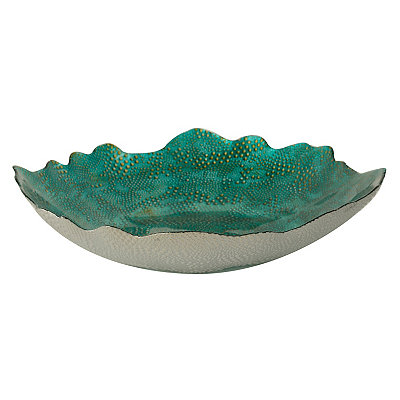 Turquoise Belcove Glass Bowl
