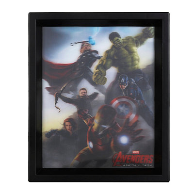 The Avengers Age of Ultron Holographic Shadowbox