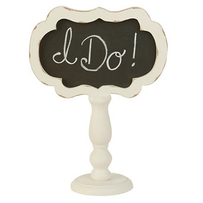 White Wooden Chalkboard Finial