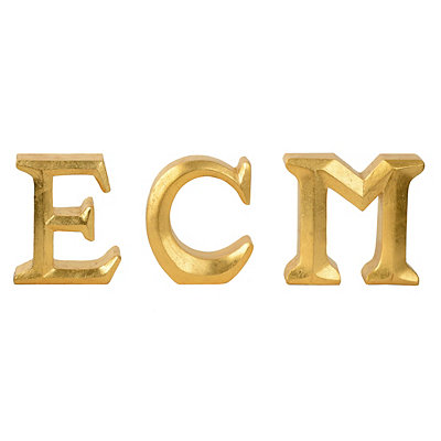 Metallic Gold Monogram Statues