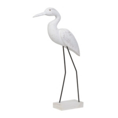 Carved Seabird Statue, 20 in.