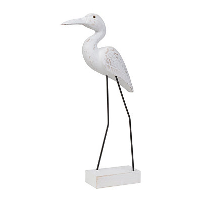 Carved Seabird Statue, 15 in.