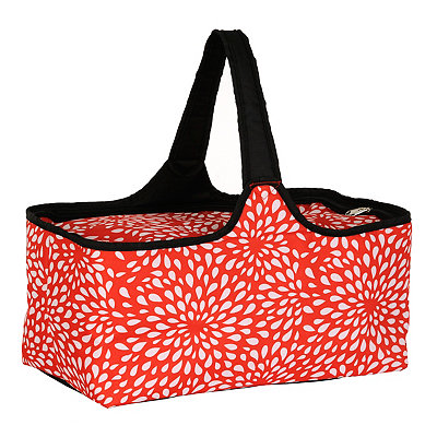 Red and White Petals Picnic Tote