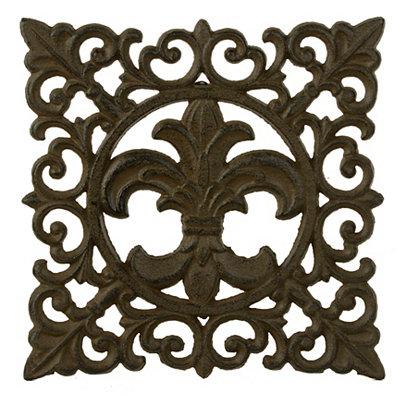 Fleur-de-Lis Cast Iron Trivet
