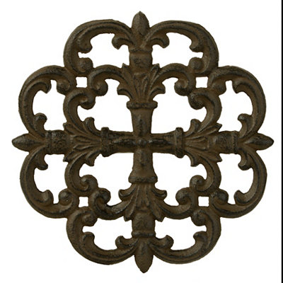 Round Medallion Cast Iron Trivet