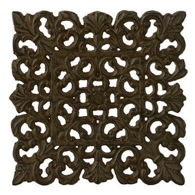 Square Scrolled Cast Iron Trivet