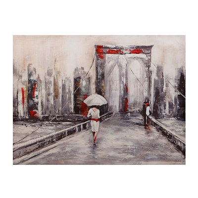 Misty Bridge Canvas Art Print