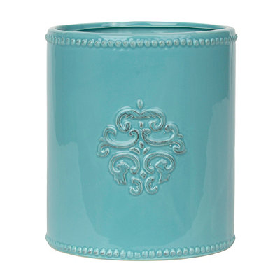 Turquoise Medallion Utensil Holder