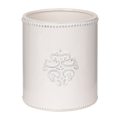 White Medallion Utensil Holder
