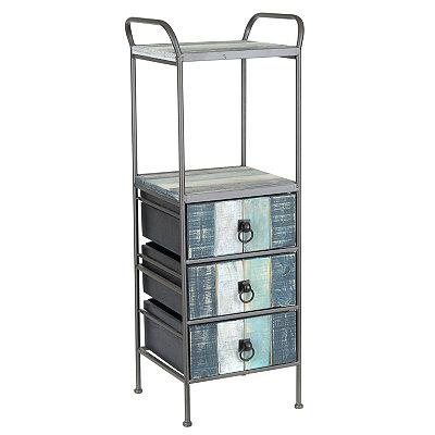 Coastal 3-Drawer Etagere Cabinet
