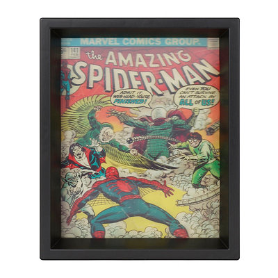 Holographic Amazing Spiderman Villains Shadowbox