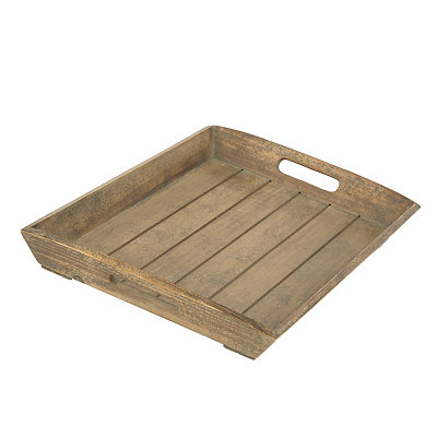 Reclaimed Wood Finish Tray