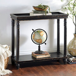 Distressed Black Wooden Console Table