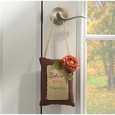 Let Us Give Thanks Door Hanger