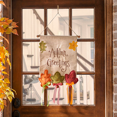 Autumn Greetings Banner Sign