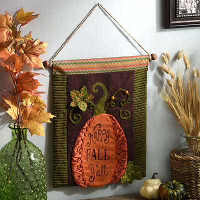 Happy Fall Y'all Banner Sign