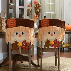 Scarecrow Boy Chair Covers, Set of 2