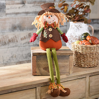 Plush Scarecrow Boy Shelf Sitter