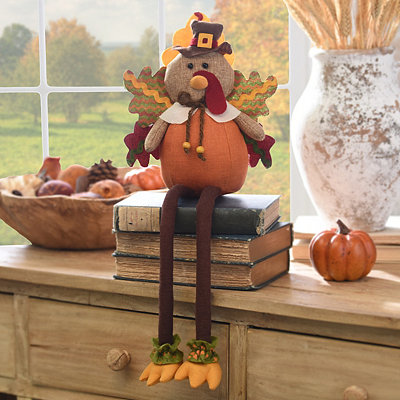 Plush Turkey Shelf Sitter