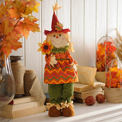 Stuffed Scarecrow Girl Statue