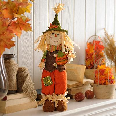 Stuffed Scarecrow Boy Statue